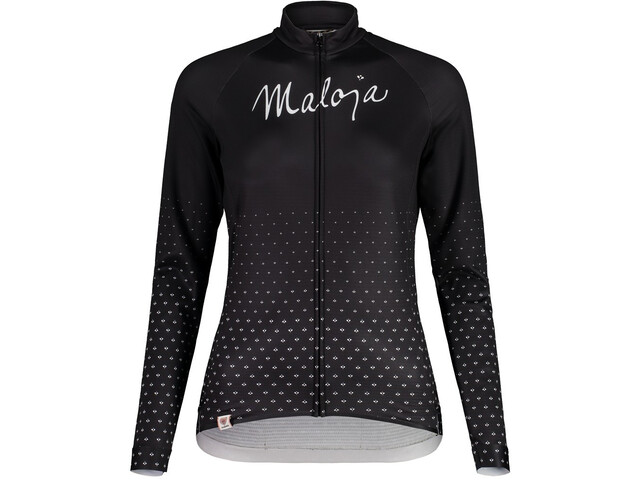 Maloja HaslmausM. 1/1 Long Sleeve Bike Jersey Women, negro